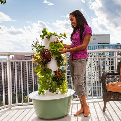 get nutrient loaded produce without loads of work - Tower Garden