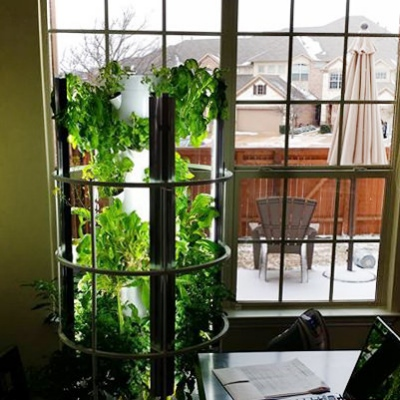 live well with 90 less water and space - Tower Garden
